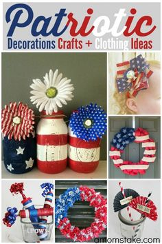 Need some red, white and blue inspiration? Here are some great patriotic DIY craft ideas.