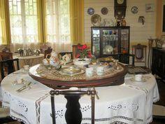 Salão de chá no Castelinho do Caracol