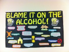 Alcohol Awareness/Safety Bulletin Board