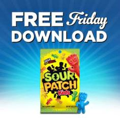 Kroger free Friday download for Sour Patch Kids Soft & Chewy Candy