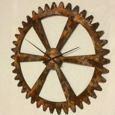 Rustic wall clock ETSY