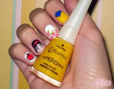 Las uñas de Julia: Nails Art Blancanieves / Princesas Disney