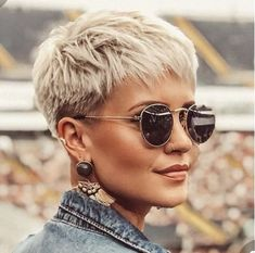 60 Most Flattering Pixie Haircuts For Women Short Hair Styles 2019 Hairstyle Short Grey Hair Flattering Hair Haircuts Hairstyle Pixie Short Styles women Short Hair Cuts For Women, Short Hairstyles For Women, Short Hair Styles, Very Short Pixie Cuts, Work Hairstyles, Simple Hairstyles, Hairstyle Short, Everyday Hairstyles, Blonde Haircuts