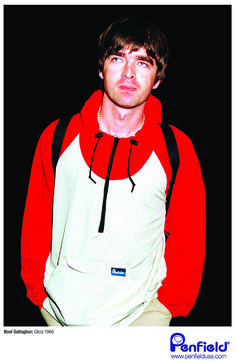 Noel Gallagher of Oasis wearing the Penfield Pac-Jac. Circa 1996.