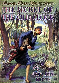 Vintage Nancy Drew Book Cover—The Secret of the Old Clock via finsbry