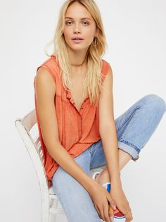 Hudson Tank from Free People! Free People Clothing, Womens Clothing Stores, Clothes For Women, Printed Tank Tops, Print Tank, Star Print, Beautiful Gowns, Summer Looks, Get Dressed