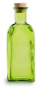 17 oz (500 ml) Green Taberna Spanish Recycled Glass Bottle with Cork - SGTG17C