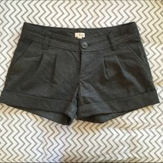 FRENCHI Dress Shorts Charcoal colored dress shorts. Excellent condition. Frenchi Shorts