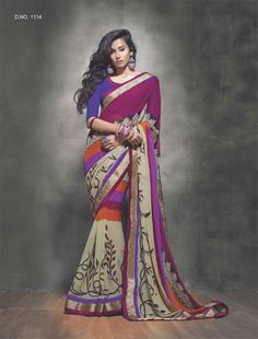 #Puregeorgette #Printedsaree #saree #indiansaree #indianethnicwear #onlineshopping #womenshopping #womenfashion #ethnicwear #fashion #Georgettesaree For order & rates visit www.baawli.com or contact +91 9870725209
