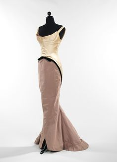 Charles James Diamond gown side-front, circa 1957. For when wine won't do and whiskey is being served. Dramatic necklace required, as is a certain disdain for something or another.