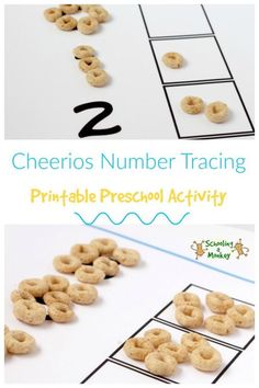 Teaching your preschoolers about numbers? This fun Cheerios number tracing printable is perfect for teaching numbers in a hands-on way.