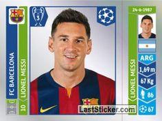 Sticker 426: Lionel Messi - Panini UEFA Champions League 2014-2015 - laststicker.com