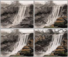 how-to-paint-waterfall