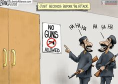 """A pinner says, """"Here's Your Sign - Conservative Byte Hows that gun control working for you now"""