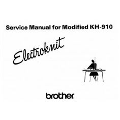 Brother KH910-Service Manual