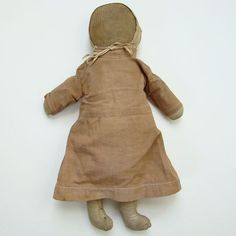 """C1910 Amish Doll in Cotton Dress Bonnet 16"""" Collection Virginia Spencer Clark"""