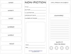 Classroom Freebies: Nonfiction Trifold Student Worksheet