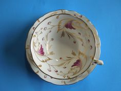 Vintage Spode Copelands MERLIN Purple Gold Scrolls Tea Cup Saucer Christmas Wedding Anniversary Birthday Collector Gift by ColorfullGifts on Etsy