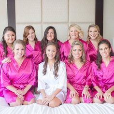 satin bridal party robes, bridesmaid getting ready robes, personalized bridesmaid gifts, luxury bridal gifts Bridesmaid Gifts Unique, Bridesmaid Robes, Wedding Bridesmaids, Bridesmaid Proposal, Bridesmaid Ideas, Tulle Wedding, Bridesmaid Jewelry, Wedding Bells, Bridal Party Robes