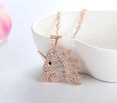 Amazon.com: Crystal Unicorn Pendant Necklace Fashion Jewelry Gifts for Girls Women 2 Styles (Rose Gold-tone): Jewelry Fashion Jewelry Necklaces, Jewelry Gifts, Unicorn Necklace, Gifts For Girls, Rose Gold, Pendant Necklace, Amazon, Crystals, Earrings