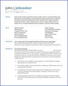 It Support Resume it help desk technician resume it support technician cv cv templat it It Support Resume