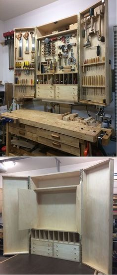 Finished tool cabinet