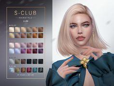 Club Hairstyles, Female Hairstyles, Mod Hair, The Sims 4 Cabelos, Pelo Sims, Hair In The Wind, Sims4 Clothes, Sims Four, Sims 4 Cc Finds