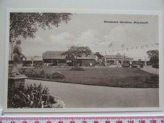 Alexandra gardens Weymouth postcard