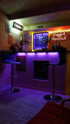 """This has been an ongoing project during the 2 years as I was working abroad, improved with a bar and fully working beer pumps running through a chiller. I am currently again upgrading under the bar to install a wine chiller. After the bar upgrade, I will be installing a flat screen TV and sports channels. It's just a shame it was not finished for the Euros! Purchasing the log cabin has been a great investment as we have already enjoyed it as a family for parties and bbq's"""