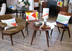 Tamasyn Gambell X Førest London Collaboration Spring 2015 Mid Century Furniture, Spring 2015, Collaboration, Scandinavian, Dining Chairs, London, The Originals, Fabric, Table