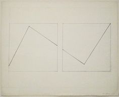 Carmen Herrera, very simple but effective geometric lines to form shapes, space, division, and connection