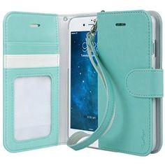 iPhone 6 Case, TORU® [Wristlet] iPhone 6 Case Wallet **NEW** [Prestizio] [Black] - Premium PU Leather Wallet Case with ID Holder / Credit Ca...