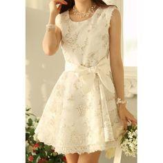 Sleeveless Wide Hem Print Design Color Block Women's Dress