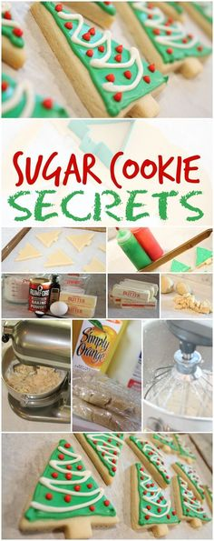 Sugar Cookie Secrets! How to get perfect Sugar Cookies to decorate for Christmas! I use these every year at our Christmas Night Party for our family! Best decorating cookies ever!