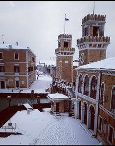 Mercoledì 28 febbraio 2018, la Neve a Arsenale di Venezia