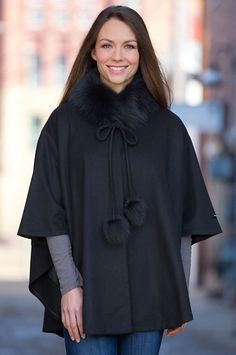 Our lusciously soft cashmere cape is designed as an elegant, cool-weather staple that takes you to the opera, to the office, or out to lunch. Free shipping + returns.