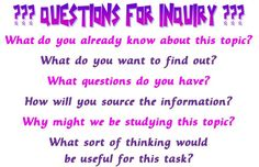 Questions for Inquiry poster (word doc)