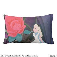 Alice in Wonderland Garden Flower Film Still Lumbar Pillow