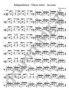 Independence - Ghost notes - Accents  https://www.drumming.gr/?p=6796  #drums #drums_independence #drum_ghost_notes #ghost_notes #drum_accents #coordination  #drummer #drum_lessons #drumming #drum_independence #drum_grooves