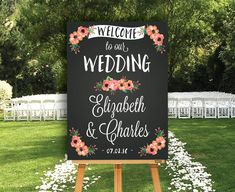 Chalkboard Welcome Sign  Wedding Welcome by SimpleandStunning2