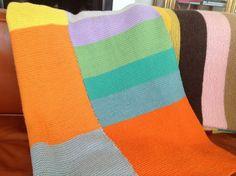 Håndarbeiden » Genialt sommerstrikk av restegarn - - strikketeppe - strikking - knitting - blanket - DIY