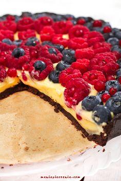 tarta bez pieczenia, tarta z owocami lata, tarta z kremem waniliowym, tarta z kremem patissiere, krem patissiere, no bake chocolate fruit tart, patissiere cream, vanilla cream