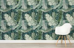 3d-mixed-tropical-camo-leaf-design-room