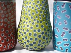 #Pattern and #glass - Lamina Vases by Cat MacKGlass.