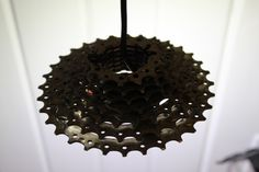 Cassette Light, made from Recycled Bike Gears