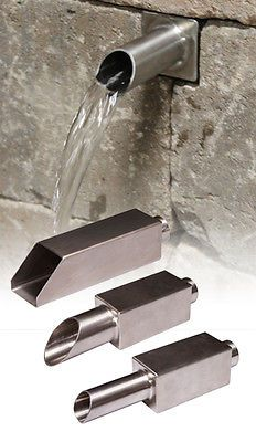 PondBuilder Stainless Steel Formal Spouts - Ornamental Waterfall Spillways im garten edelstahl