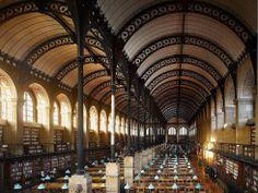 SAINTE-GENEVIÈVE library, Paris, France, 1850