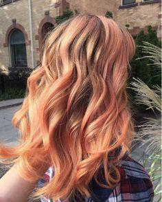 Bildresultat för +balayage peach blorange