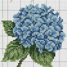 Wonderful Photographs Cross Stitch flowers Ideas Cross-stitch is an easy kind of needlework, suitable towards material there for stitchers today. Cross Stitch Art, Cross Stitch Borders, Cross Stitch Flowers, Counted Cross Stitch Patterns, Cross Stitch Designs, Cross Stitching, Cross Stitch Embroidery, Hand Embroidery, Embroidery Patterns