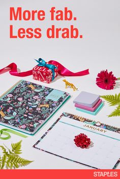 In 2018, be fashionably on time. With planners and calendars from Blue Sky at Staples, give someone (or yourself) the gift of staying organized in style. The Jungle collection, shown here, is a mighty fierce choice. More styles available.